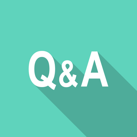 question and answer: question answer flat design modern icon with long shadow for web and mobile app
