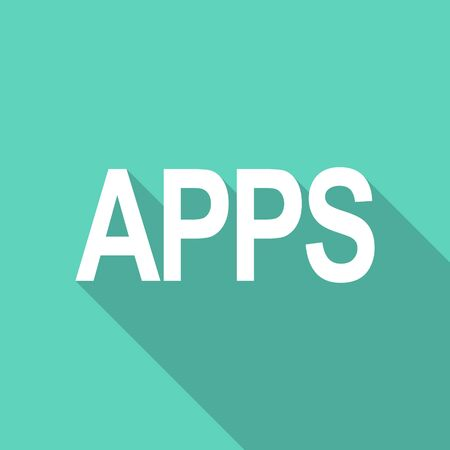 mobile apps: apps flat design modern icon with long shadow for web and mobile app