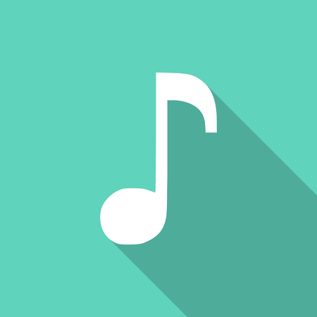 melodic: music flat design modern icon with long shadow for web and mobile app Stock Photo