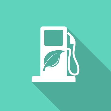 application recycle: biofuel flat design modern icon with long shadow for web and mobile app