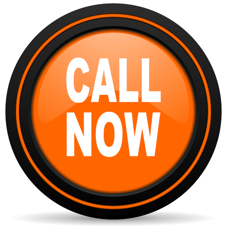 call now orange icon Stock Photo - 42940310