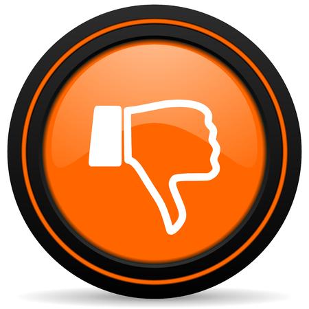 pulgar abajo: naranja icono del pulgar hacia abajo signo no les gusta