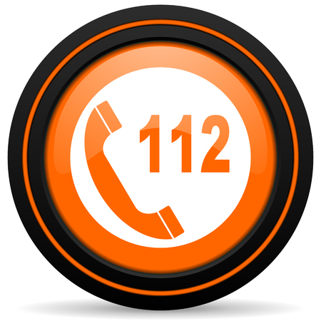 emergency call: emergency call orange icon 112 call sign