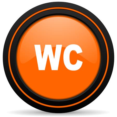 wc: toilet orange icon wc sign