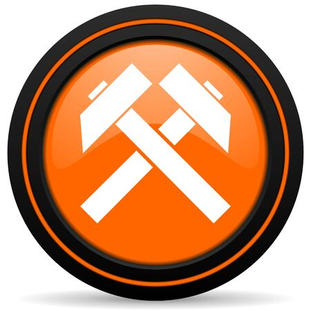 mine data: mining orange icon