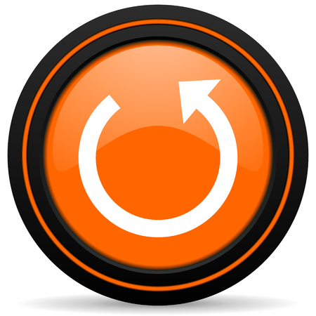 rotate: rotate orange icon reload sign