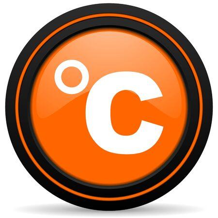 celcius: celsius orange icon temperature unit sign