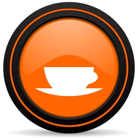 espresso cup: espresso orange icon caffe cup sign