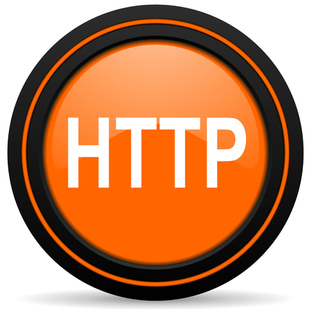 http: http orange icon Stock Photo