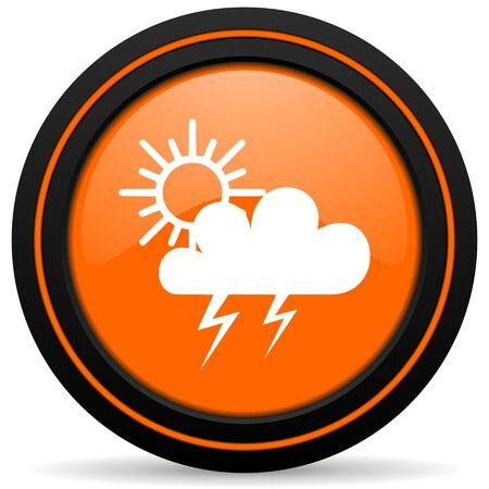pushbuttons: storm orange icon waether forecast sign