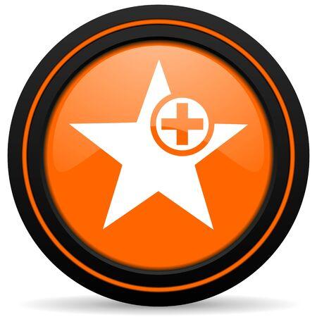 favourite: star orange icon add favourite sign