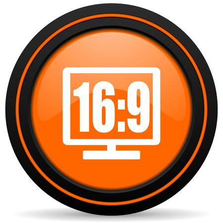 display: 16 9 display orange icon