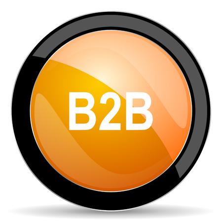 b2b: b2b orange icon Foto de archivo