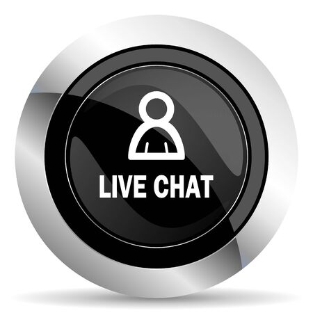 Chatter: live chat icon, black chrome button