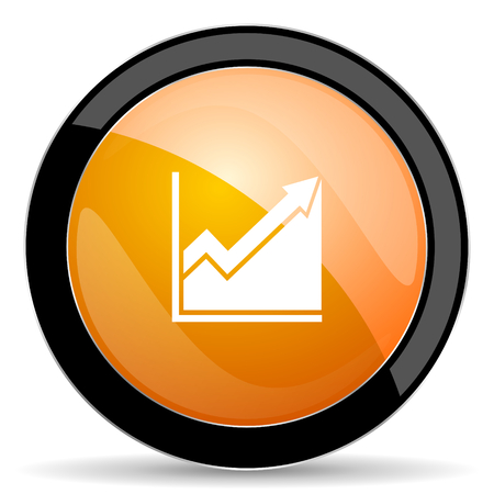 histogram: histogram orange icon stock sign