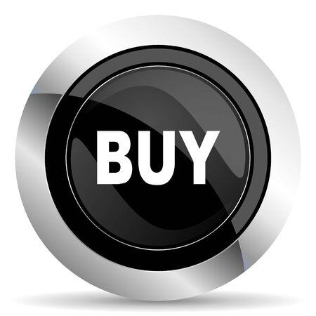 buy icon: buy icon, black chrome button