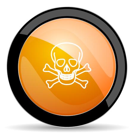pirating: skull orange icon death sign