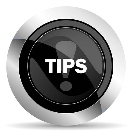 chrome: tips icon, black chrome button