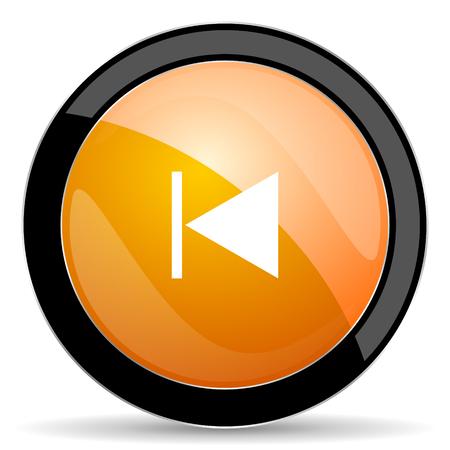 previous: previous orange icon