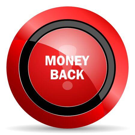 money back: money back red glossy web icon Stock Photo