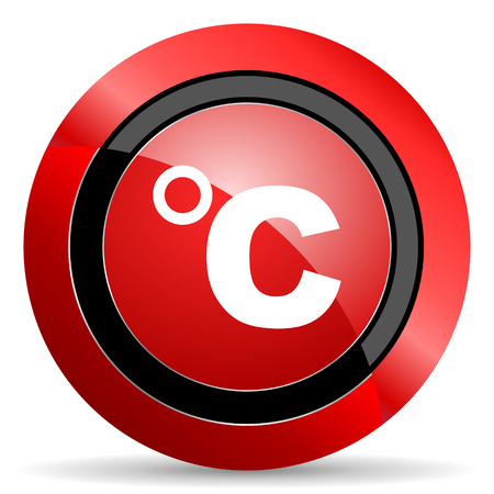 celsius: celsius red glossy web icon