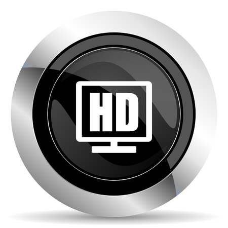 display: hd display icon, black chrome button
