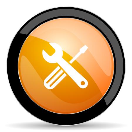 tools icon: tools orange icon service sign