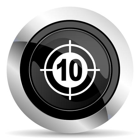 target icon: target icon, black chrome button