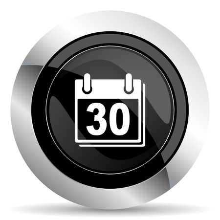 chrome: calendar icon, black chrome button, organizer sign