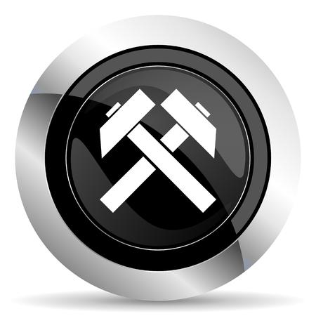 chrome: mining icon, black chrome button