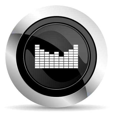 sound icon: sound icon, black chrome button