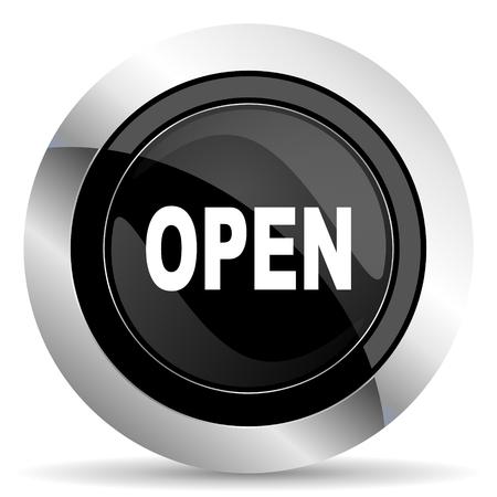 chrome: open icon, black chrome button
