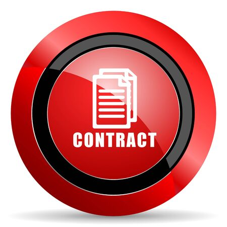 icom: contract red glossy web icon