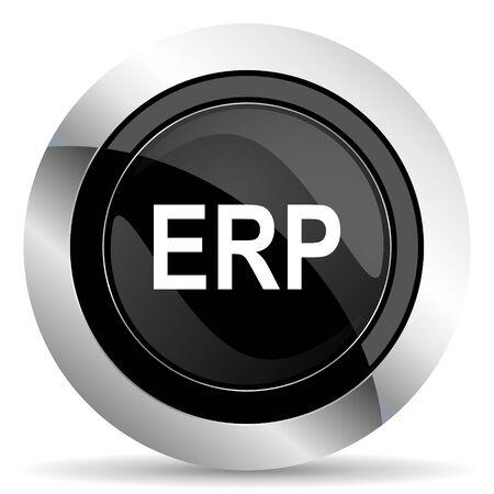 chrome: erp icon, black chrome button