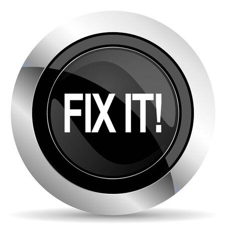 it: fix it icon, black chrome button