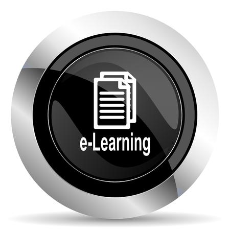 chrome: learning icon, black chrome button