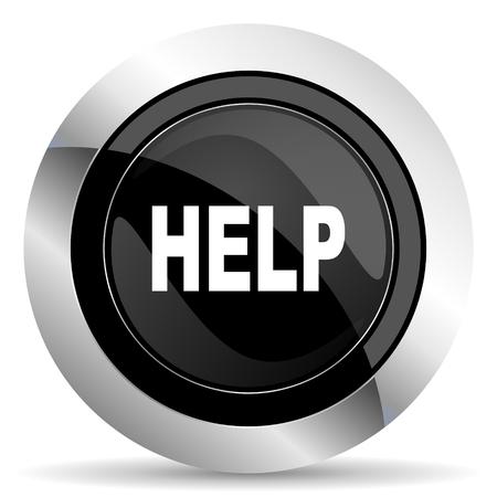 chrome: help icon, black chrome button