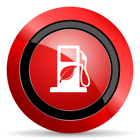 agro: biofuel red glossy web icon