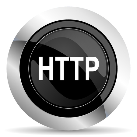 http: http icon, black chrome button