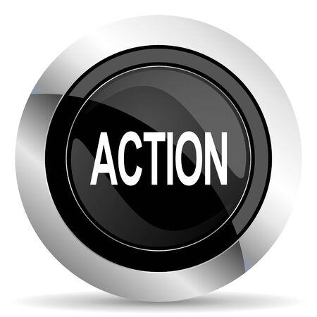 chrome: action icon, black chrome button