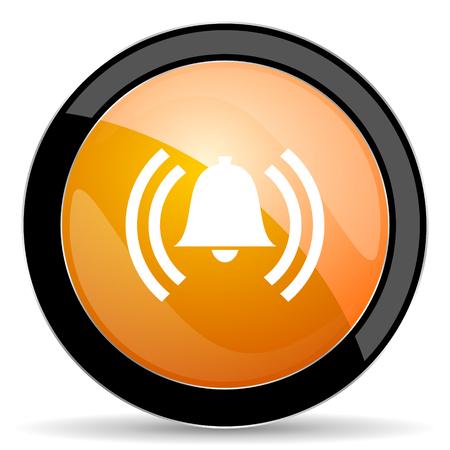 safe and sound: alarm orange icon alert sign bell symbol