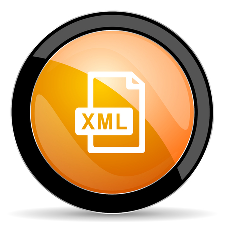 xml: xml file orange icon