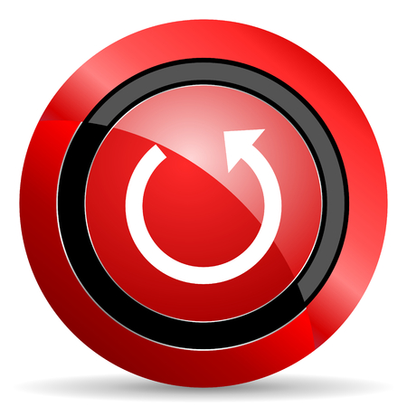 rotate: rotate red glossy web icon Stock Photo