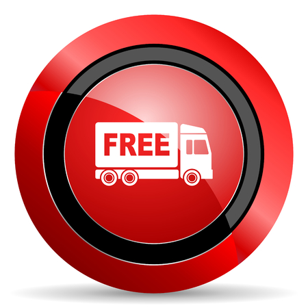 deliverance: free delivery red glossy web icon
