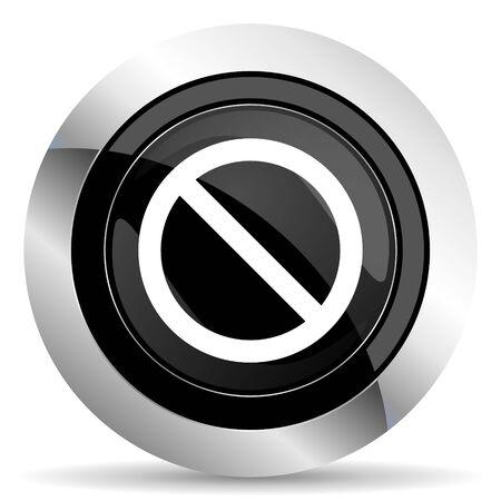 access denied icon: access denied icon, black chrome button