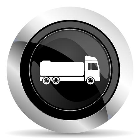 chrome: truck icon, black chrome button, cargo sign