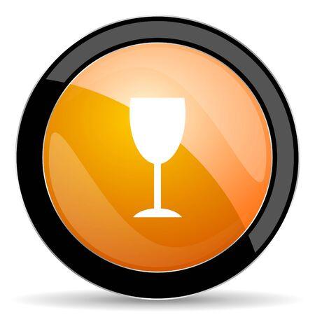 champain: alcohol  orange icon glass sign