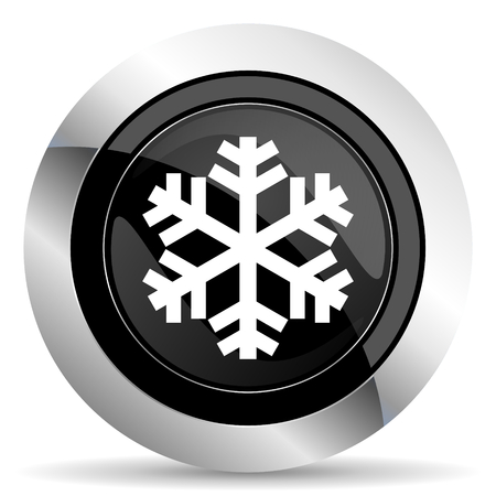 smarthone: snow icon, black chrome button, air conditioning sign