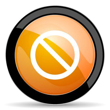 access denied: access denied orange icon Stock Photo