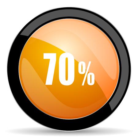 70: 70 percent orange icon sale sign Stock Photo